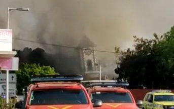 Vulkanausbruch La Palma Lava Kirche