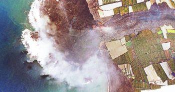 Vulkanausbruch La Palma Lava Plantagen Bananen