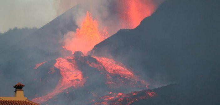 Vulkanausbruch La Palma Lavastrom Haus