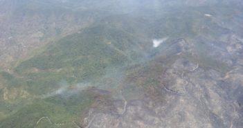 Waldbrände La Gomera Teneriffa Luftaufnahme