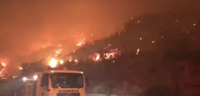Waldbrand Gran Canaria Feuerwehr Nacht 08-2019