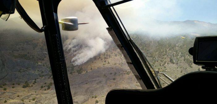 Waldbrand La Palma Helikopter 2016