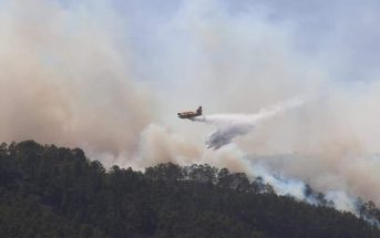 Waldbrand Teneriffa 05-2021 Löschflugzeug