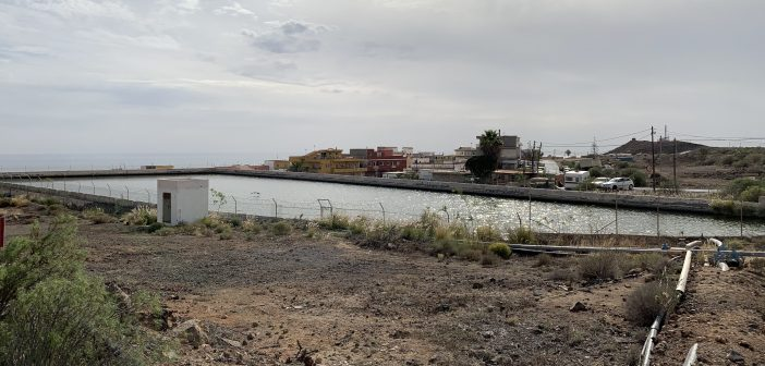 Wasserbecken Rückhaltebecken Trinkwasser Teneriffa Kanaren