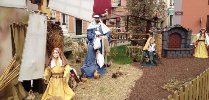 Weihnachtskrippe La Orotava Teneriffa Mühle